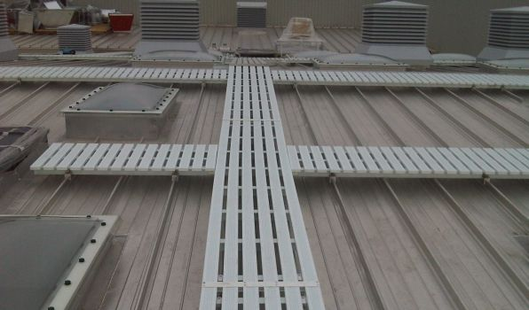 permanent roof walkway snps safe access systems - Safety Net